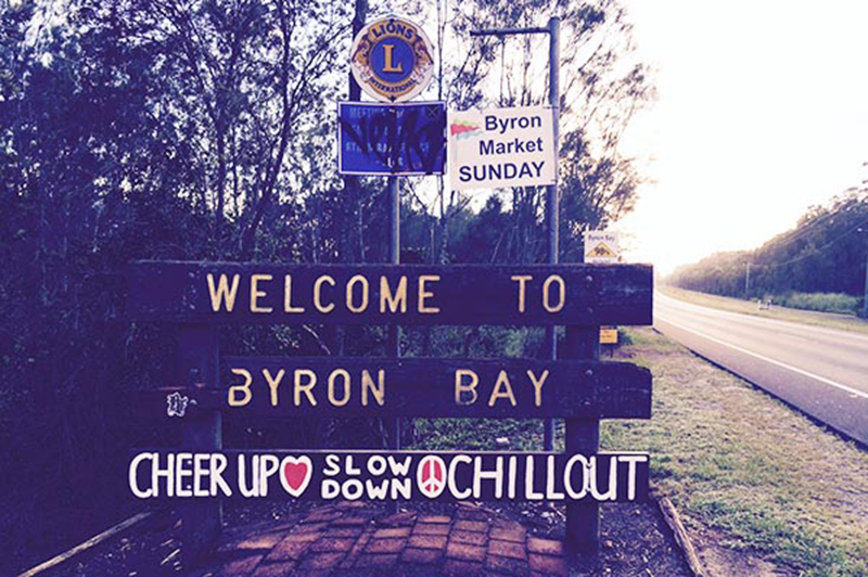 Byron Bay welcome sign