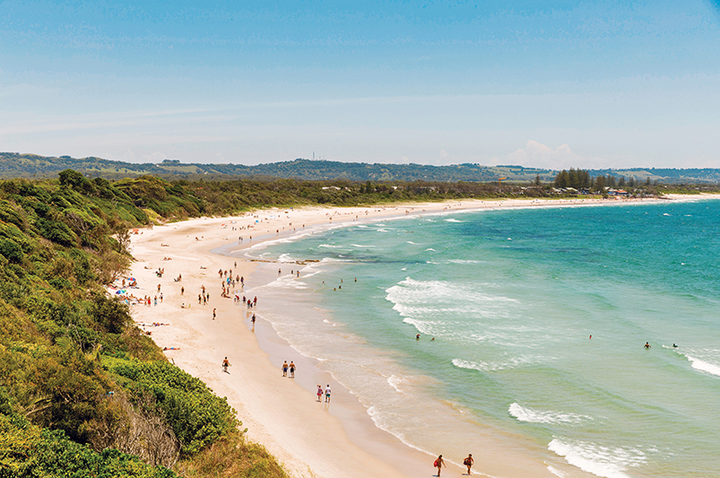 Clarkes Beach view in Byron Bay