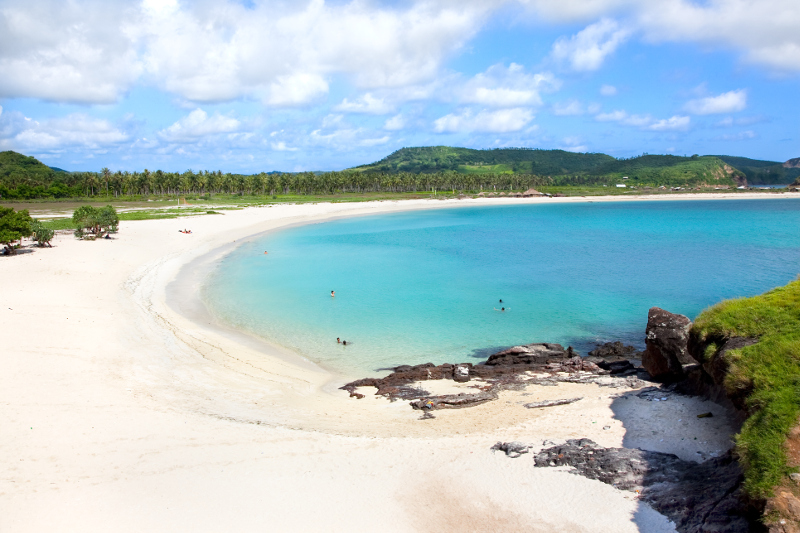 Discover secluded beaches on Lombok.