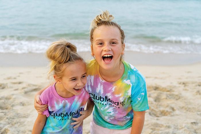 Kids at Club Med Bintan Island.