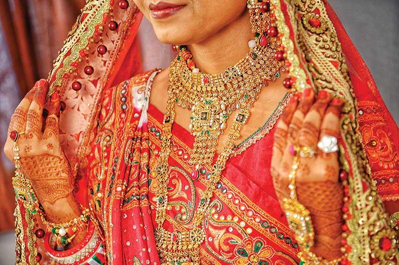 bride in indian wedding