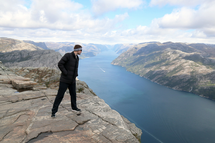 Looking over the edge of Norway's pulpit rock