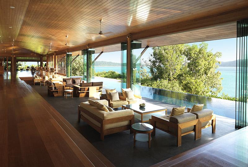 Qualia lounge Hamilton Island