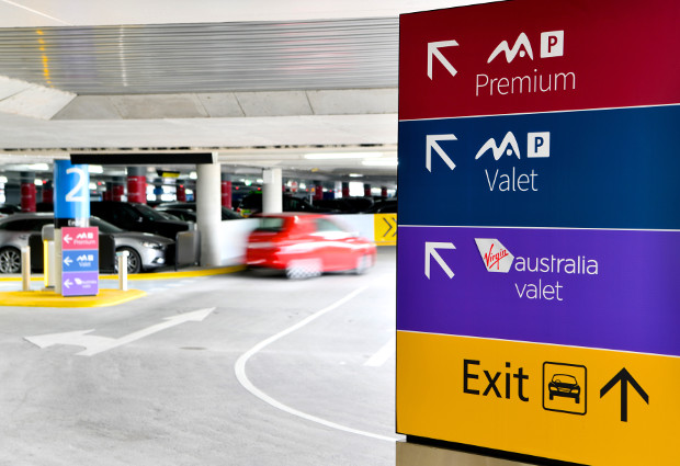 Parking sign Melbourne Airport