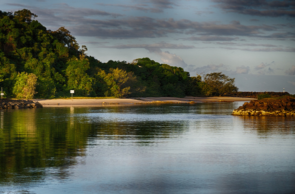 A tranquil waterway at Brunswick Heads, New South Wales.