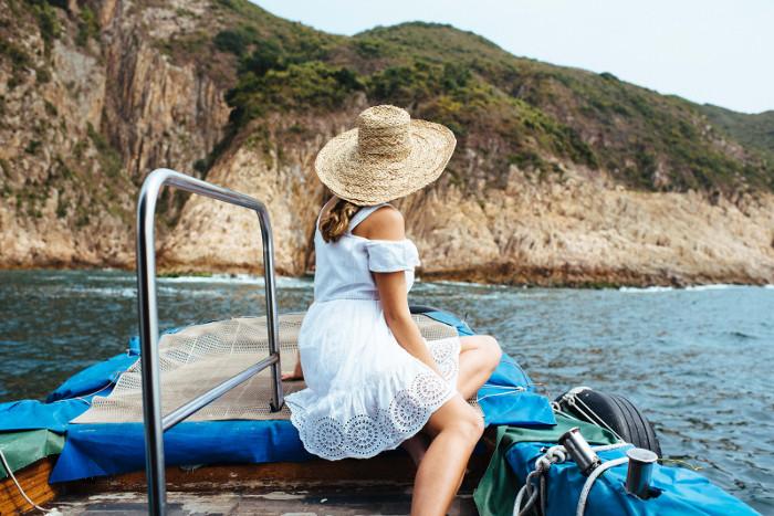 geneva vanderzeil on boat in hong kong new territories