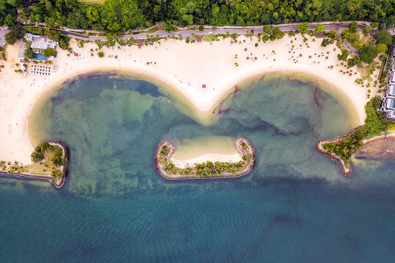 Tanjong Beach view on Sentosa Island