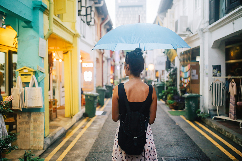 Small alley in Singapore