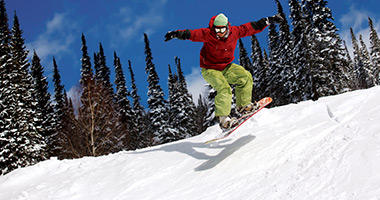 Snowboarding in Vail, Colorado