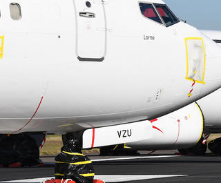 Qantas aircraft grounded in Sydney
