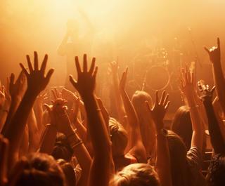 Concert moshpit
