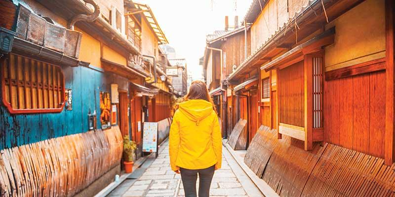 kyoto walking through old town